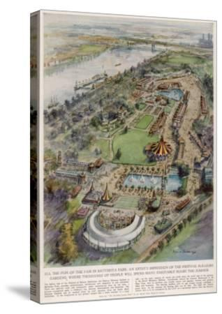 Festival Pleasure Garden--Stretched Canvas Print