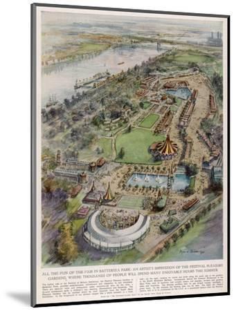 Festival Pleasure Garden--Mounted Giclee Print