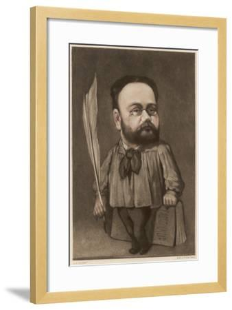 Emile Zola French Writer and Champion of Dreyfus--Framed Giclee Print
