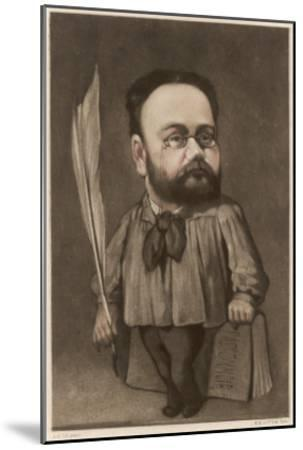 Emile Zola French Writer and Champion of Dreyfus--Mounted Giclee Print