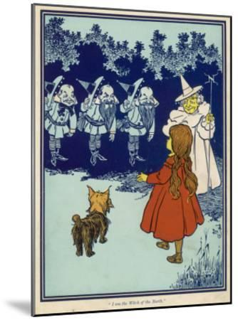 Dorothy and Toto Meet the Good Witch of the North and the Munchkins--Mounted Giclee Print
