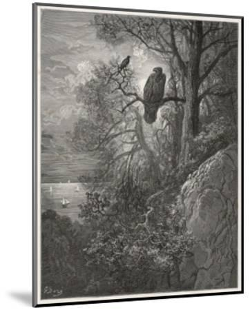 Eagle and Magpie--Mounted Giclee Print