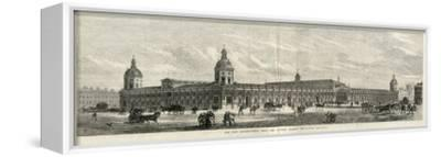 Exterior of the Smithfield New Metropolitan Meat and Poultry Market, London--Framed Stretched Canvas Print