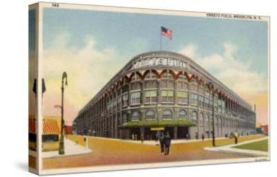 Ebbets Field, Brooklyn, New York, Home of the Brooklyn Dodgers in the 1930s--Stretched Canvas Print