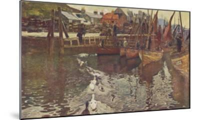 Fishing Boats in Tarbert Harbour, Loch Fyne--Mounted Giclee Print