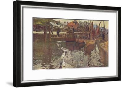 Fishing Boats in Tarbert Harbour, Loch Fyne--Framed Giclee Print