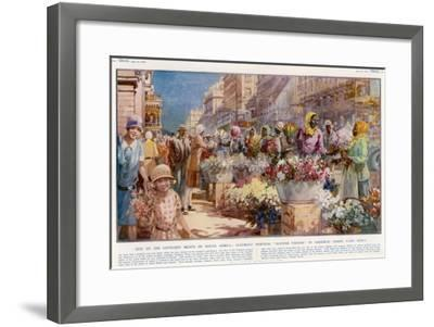 Flower Sellers - Cape Town, South Africa--Framed Giclee Print