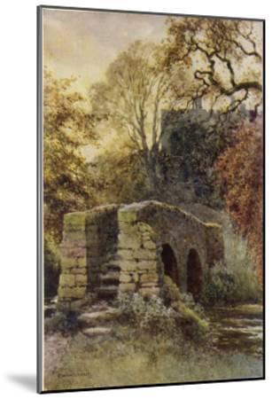 Haddon Hall, Derbyshire : Dorothy Vernon's Bridge--Mounted Giclee Print