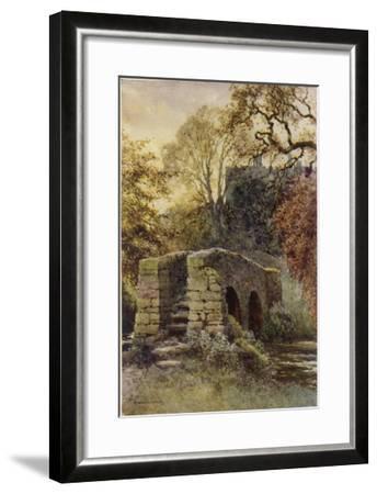 Haddon Hall, Derbyshire : Dorothy Vernon's Bridge--Framed Giclee Print