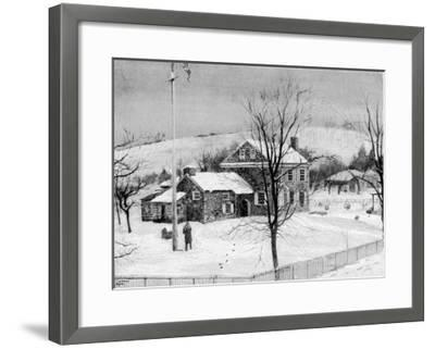 General Washington's Headquarters at Valley Forge--Framed Giclee Print