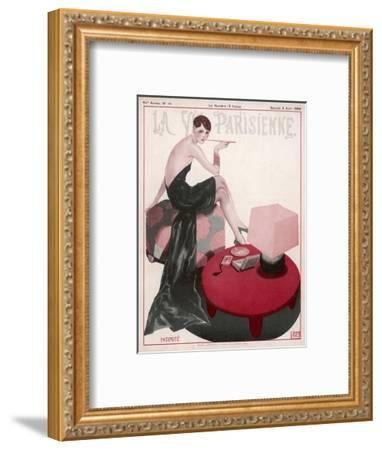 Flapper Smokes a Ciggie--Framed Giclee Print