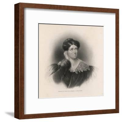 Harriet Martineau Writer and Social Commentator--Framed Giclee Print