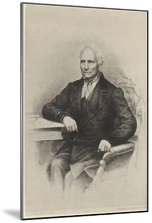Jan Evangelista Purkyne (Or Purkinje) - Bohemian Physiologist from Prague, Friend of Goethe--Mounted Giclee Print