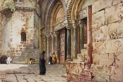 Jerusalem: Entrance to the Church of the Holy Sepulchre--Stretched Canvas Print