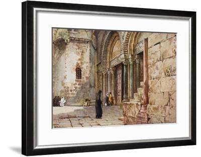 Jerusalem: Entrance to the Church of the Holy Sepulchre--Framed Giclee Print