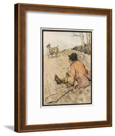 I J Stands for Jorrocks of Famed Handley Cross - But Oh, the Poor Fellow Has Taken a Toss!'--Framed Giclee Print