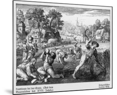 Harvest Scene in 17th Century Germany--Mounted Giclee Print