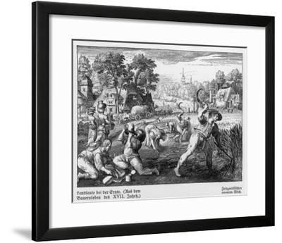 Harvest Scene in 17th Century Germany--Framed Giclee Print