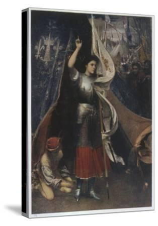 Joan of Arc Is Helped to Don a Suit of Armour before Battle, in the Camp of Her Troops--Stretched Canvas Print