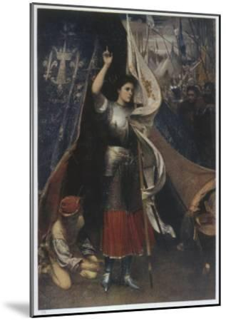Joan of Arc Is Helped to Don a Suit of Armour before Battle, in the Camp of Her Troops--Mounted Giclee Print