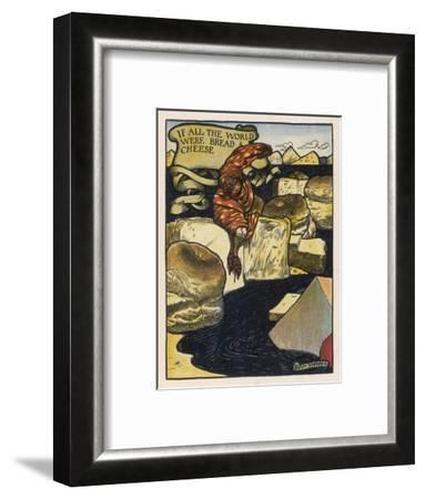 If All the World--Framed Giclee Print