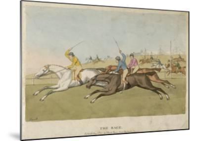 Horse Racing--Mounted Giclee Print