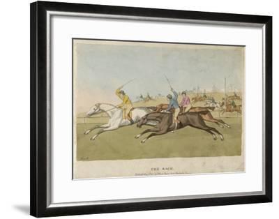 Horse Racing--Framed Giclee Print