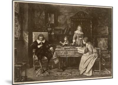 John Milton, Blind in Old Age, Dictates 'Paradise Lost' to His Three Daughters--Mounted Giclee Print