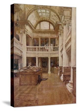 Interior View of the Hornby Library, Liverpool--Stretched Canvas Print