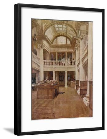 Interior View of the Hornby Library, Liverpool--Framed Giclee Print