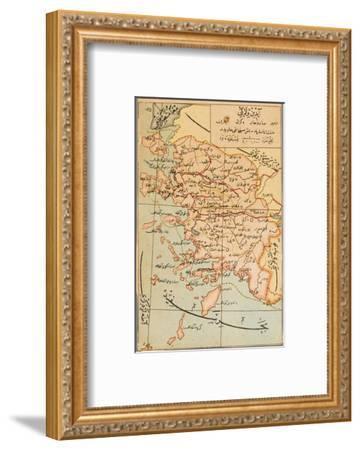 Izmir Region of Turkey - Map--Framed Giclee Print
