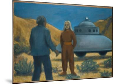 He Meets Orthon, a Venusian, at Desert Center, California-Michael Buhler-Mounted Giclee Print