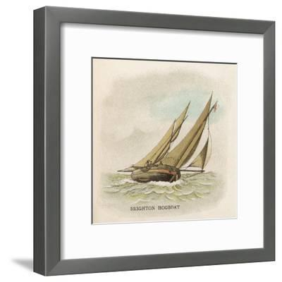 Hogboat Used by the Fishermen of Brighton, Sussex--Framed Giclee Print