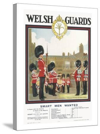 Poster for Welsh Guards--Stretched Canvas Print