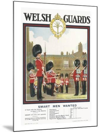 Poster for Welsh Guards--Mounted Giclee Print