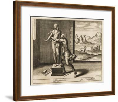 Pygmalion and Statue--Framed Giclee Print