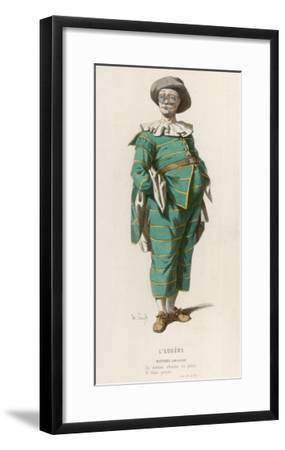Matthieu' ('Creancier') a Character from 'L'Eugene' by Jodelle--Framed Giclee Print