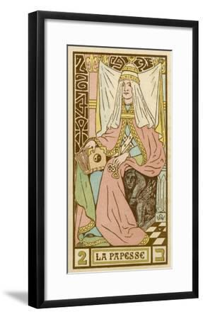 La Papesse - Tarot Card Depicting Pope Joan--Framed Giclee Print