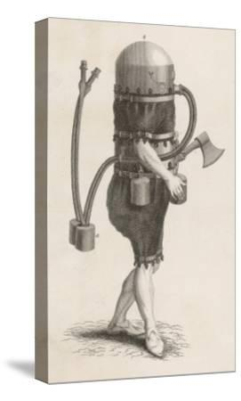 Klingert's Diving Suit and And Breathing Apparatus--Stretched Canvas Print