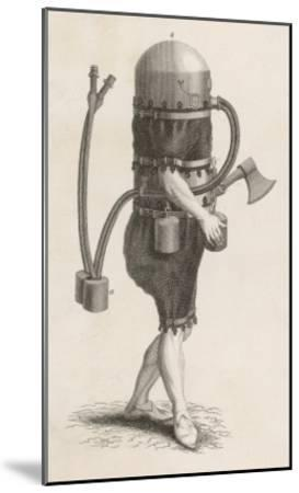 Klingert's Diving Suit and And Breathing Apparatus--Mounted Giclee Print