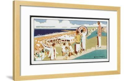 Looking Down to the Beach at Whitby, Yorkshire--Framed Giclee Print