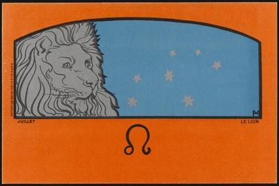 Meunier Zodiac Leo--Stretched Canvas Print
