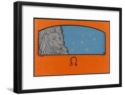 Meunier Zodiac Leo--Framed Giclee Print