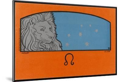 Meunier Zodiac Leo--Mounted Giclee Print