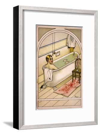 Man in Bath--Framed Giclee Print
