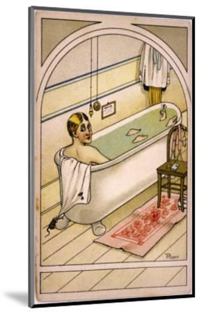 Man in Bath--Mounted Giclee Print