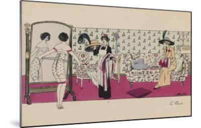 Lacing Up Corset--Mounted Giclee Print