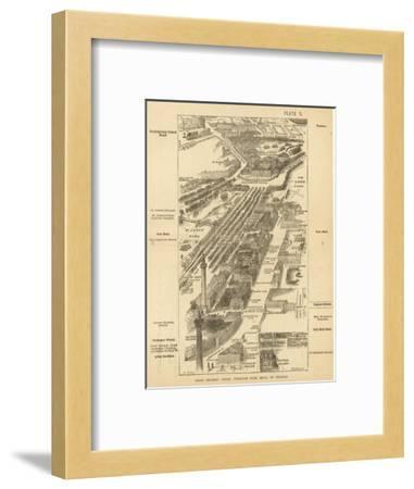 London Birdseye--Framed Giclee Print