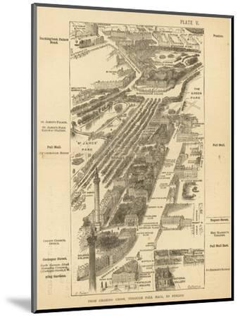 London Birdseye--Mounted Giclee Print