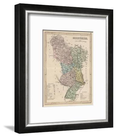 Map of Derbyshire--Framed Giclee Print